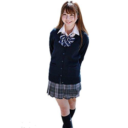 happy-JP レディース カーディガン セーター 学生服 制服 ス・・・