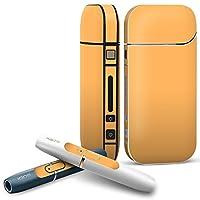 IQOS 専用 COMPLETE アイコス 専用スキンシール 全面セット サイド ボタン スマコレ チャージャー カバー ケース デコ オレンジ 単色 シンプル 012235