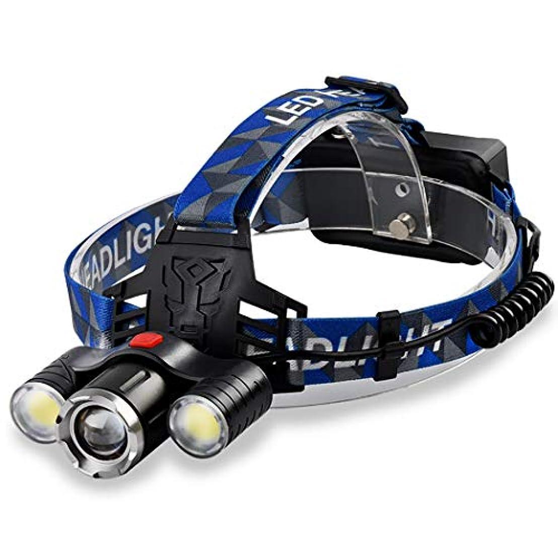 サーマル適応する滝HSBAIS 高輝度 ヘッドライト LED、USB 充電式 ヘッドランプ 防水 軽量 ヘルメットライト 両手が自由と調整可能 ヘッドバンド,black