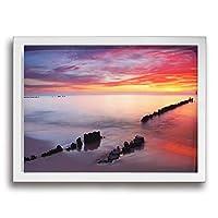 DSM 絵 アートパネル アートフレーム 風景画 風景 海 砂辺 光 風景写真 壁掛け 壁飾り ウォールアート フレーム装飾画 玄関 廊下 おしゃれ White 30*40cm
