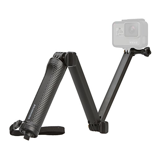 HAKUBA アクションカメラ用 3Way 自撮り棒 GoPro HERO6/Fusion対応 折りたたみ式 ミニ三脚付き AMZGGP3WBK 【Amazon.co.jp限定】