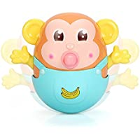 sytle-carryベビータンブラーTeether Toy – 安全Monkey Toy With Feeder Bell Bath Toy for Infants幼児