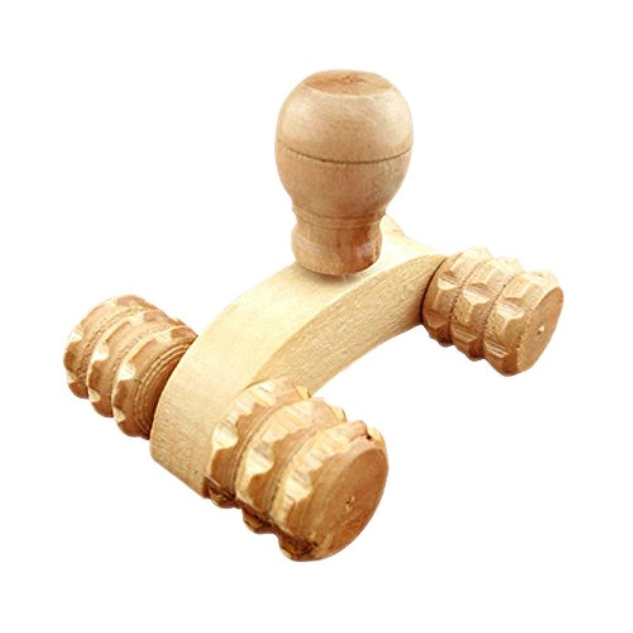 お手入れ可塑性説明するHrph ボディマッサージ ボディケア 四輪 木製