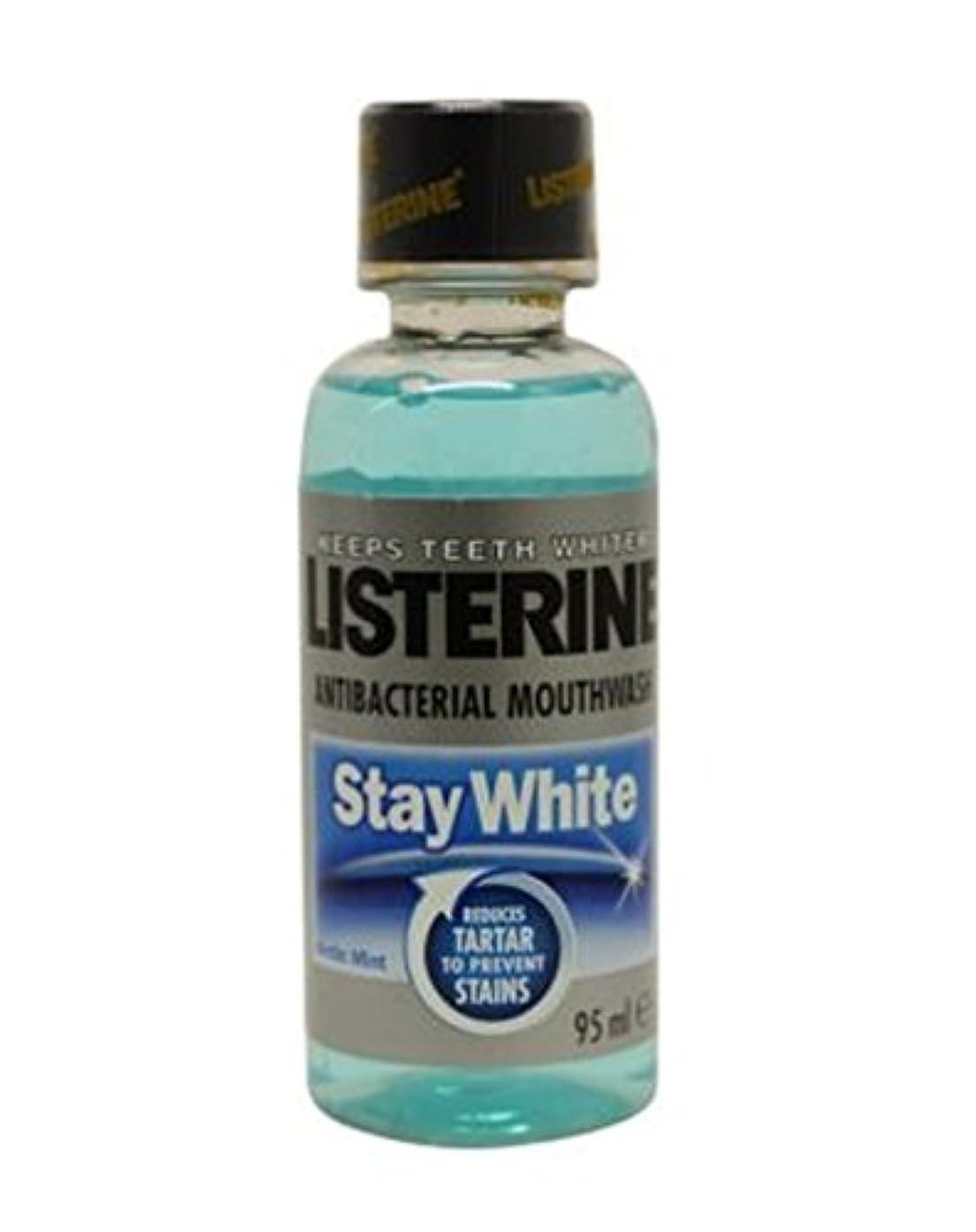 つぶやき疑い者ピニオンリステリン白いマウスウォッシュ95ミリリットルを滞在 (Listerine) (x2) - Listerine Stay White Mouthwash 95ml (Pack of 2) [並行輸入品]