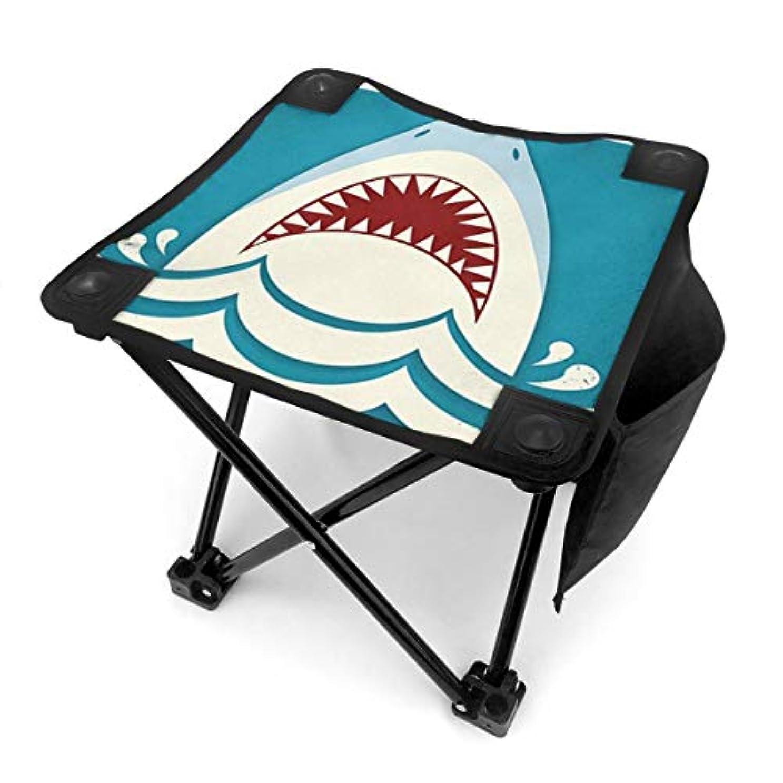 平日ケーキ脳鮫 鱶 鰐鮫 キャンプ用折りたたみスツール アウトドアチェア 折りたたみ コンパクト椅子 折りたたみスツール 小型スツール 収納袋付き 持ち運びが簡単 耐荷重100kg
