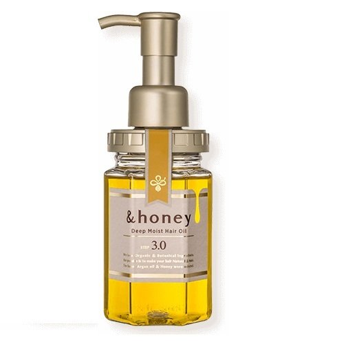 &honey &honey(アンドハニー) ディープモイスト ヘアオイル3.0 100ml ダマスクローズハニーの画像