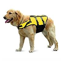 [eleitchtee] イニシャルジー ライフジャケット 浮き輪 小型犬 中型犬 大型犬 015-cwyp-jacket(6XL イエロー)