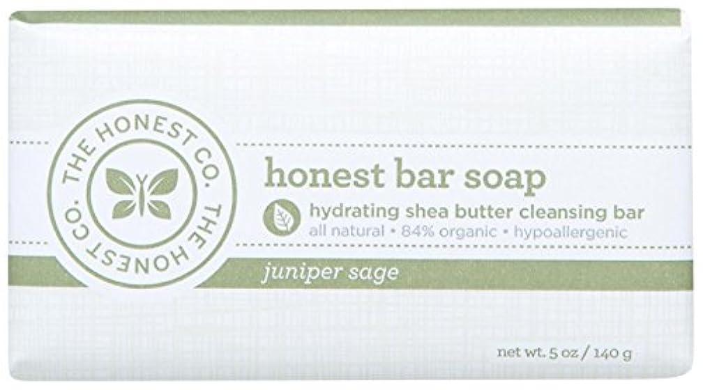 悪名高い放射するくるくるHonest Bar Soap - Juniper Sage - 5 oz by The Honest Company