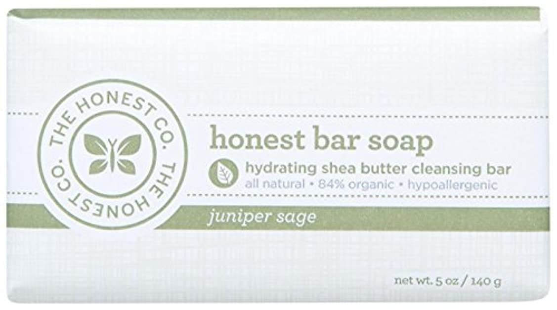 プール行政飽和するHonest Bar Soap - Juniper Sage - 5 oz by The Honest Company