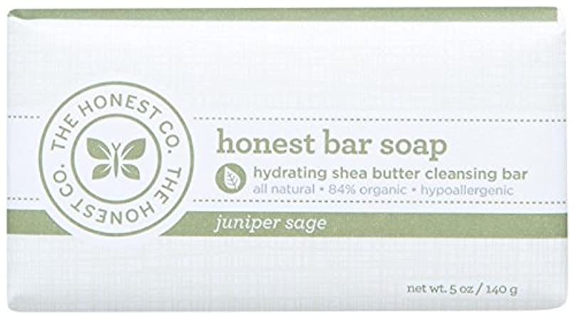 うま危険にさらされているイタリアのHonest Bar Soap - Juniper Sage - 5 oz by The Honest Company