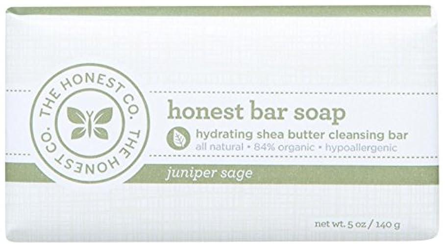 手首応援するアクロバットHonest Bar Soap - Juniper Sage - 5 oz by The Honest Company