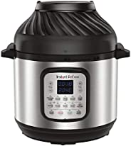 Instant Pot Duo Crisp and Air Fryer, Multi-Use Pressure Cooker and Air Fryer, Stainless Steel, 8L