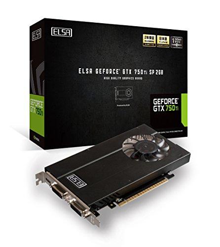 ELSA NVIDIA GeForce GD750Ti 2GB グラフィックボード GD750-2GERTSP