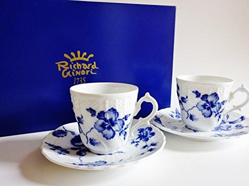 リチャードジノリ ローズブルー コーヒーカップ&ソーサー ペア...