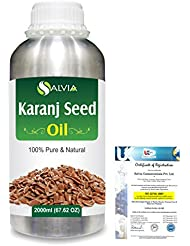 Karanj Seed (Pongamia glabra) Natural Pure Undiluted Uncut Carrier Oil 2000ml/67 fl.oz.