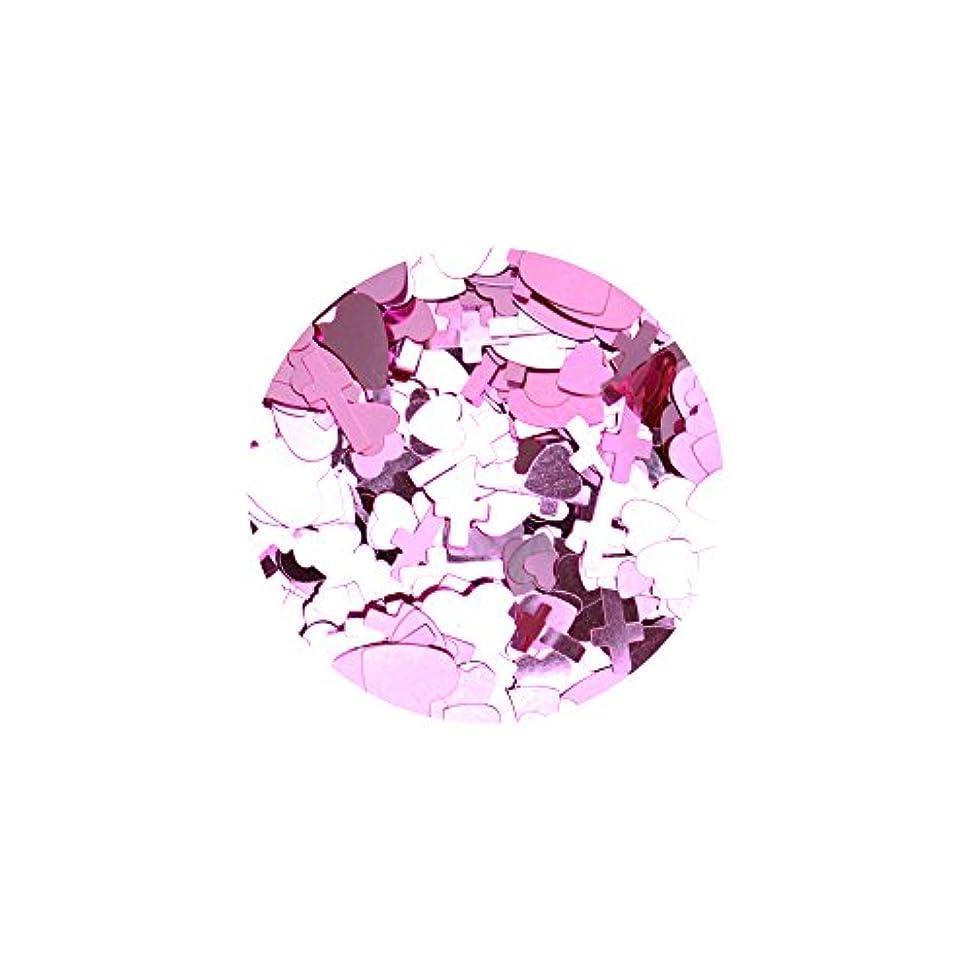 魅力的であることへのアピール調整保守的ハートクロスミックスホロ【ライトピンク】ホログラム