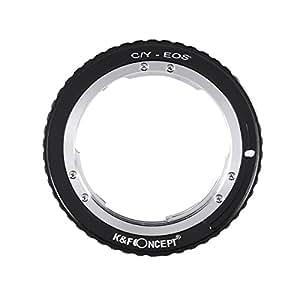 K&F Concept レンズマウントアダプター KF-CYEF-E (ヤシカ・コンタックスマウントマウントレンズ → キャノンEFマウント変換)電子接点付き