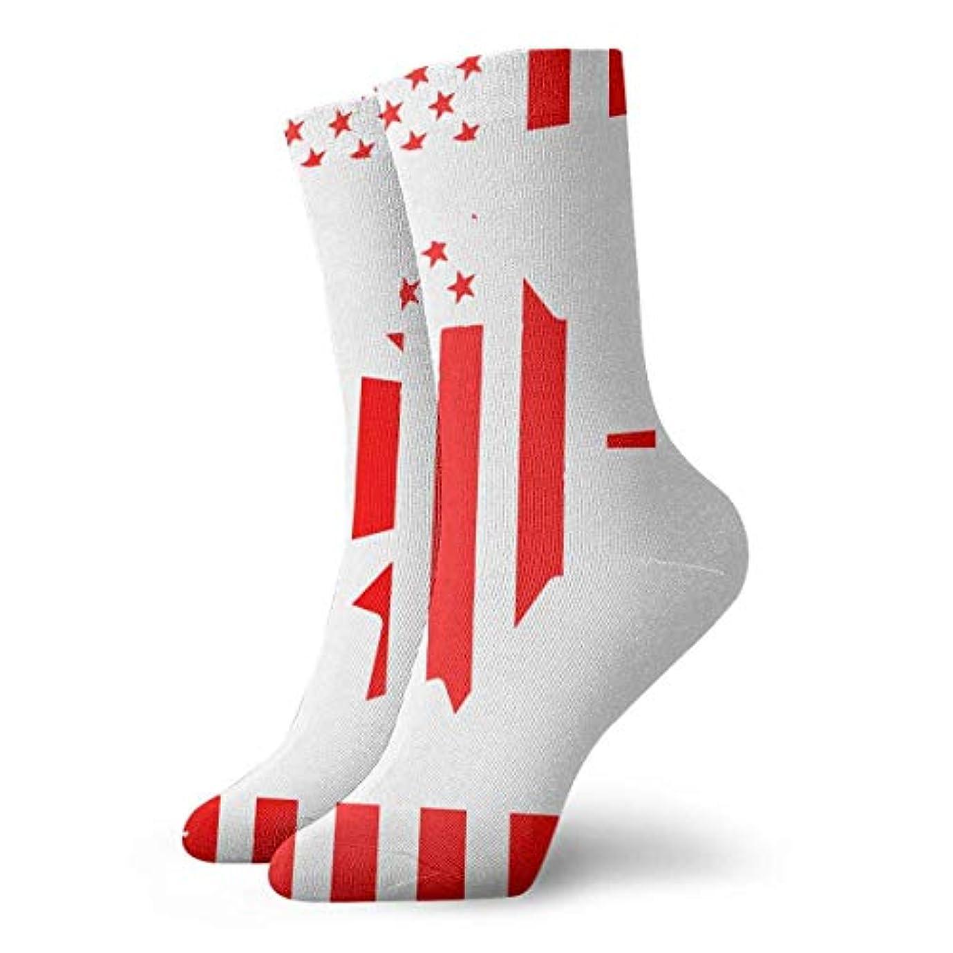 Qririyユニセックスカラフルドレスソックス、カナダフラグメープル、冬ソフトコージー暖かい靴下かわいい面白いクルーコットンソックス1パック