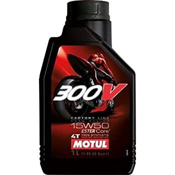 MOTUL(モチュール) 300V FACTORY LINE ROAD RACING (300V ファクトリーライン ロードレーシング) 15W50 バイク用100%化学合成オイル 1L[正規品] 11102211