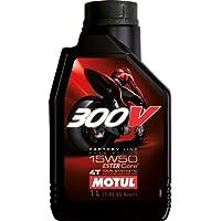 MOTUL(モチュール) 300V FACTORY LINE ROAD RACING (300V ファクトリーライン ロードレーシング) 15W50 バイク用100% 化学合成オイル 1L[正規品] 11102211