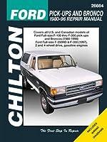 Chilton フォードトラックとブロンコ 1980-1996 修理マニュアル (26664)