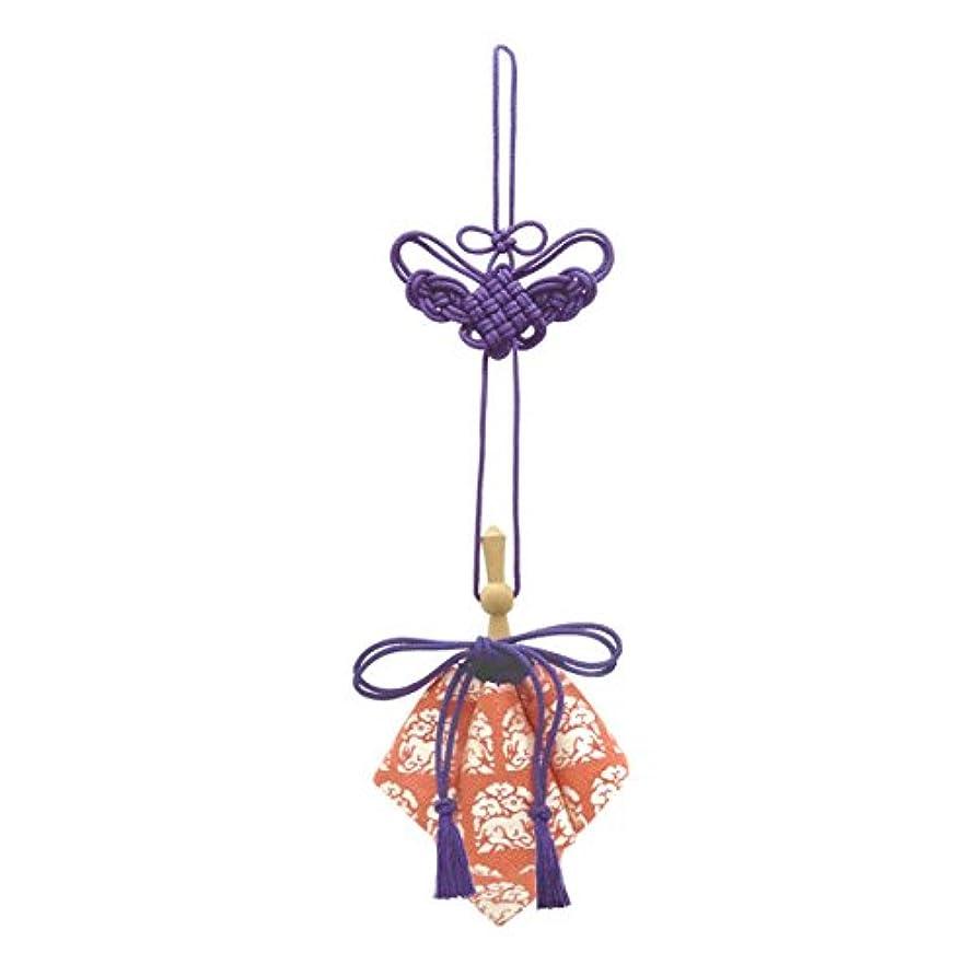 やりがいのある迷彩命令的訶梨勒 極品 桐箱入 花門に兎 (紫紐)