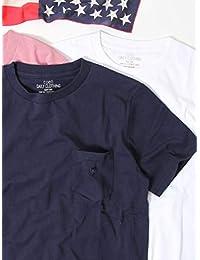 (コーエン) COEN USAコットンクルーネックポケットTシャツ2018SS(ライトピンク、ライトブルー⇒WEB限定カラー) 75256078006