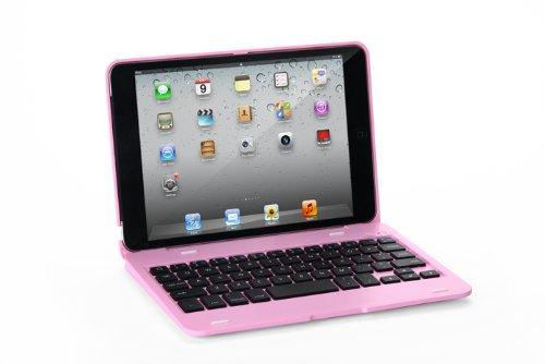 マーサ・リンクF1 iPad mini初代/mini2/mini3通用 Bluetooth ワイヤレス キーボード ハード ケース ノートブックタイプ (ブラック、シルバー、ピンク、レッド)4カラー選択 F1 ABS Case Keyboard for iPad mini2/mini3 with iPad mini 7.9inch (iPad mini1/2/3, ピンク)