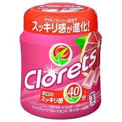 モンデリーズ・ジャパン クロレッツXP ボトルR ピンクグレープフルーツミント(粒ガム) 140g×6個入