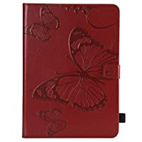 MrStar iPad 5 6 8 9 Case, iPad 5 6 8 9 Wallet Case,贅沢, Premium Slim Leather Wallet Back Case with Credit Card ID Holder Protective Cover for iPad 5 6 8 9,Red