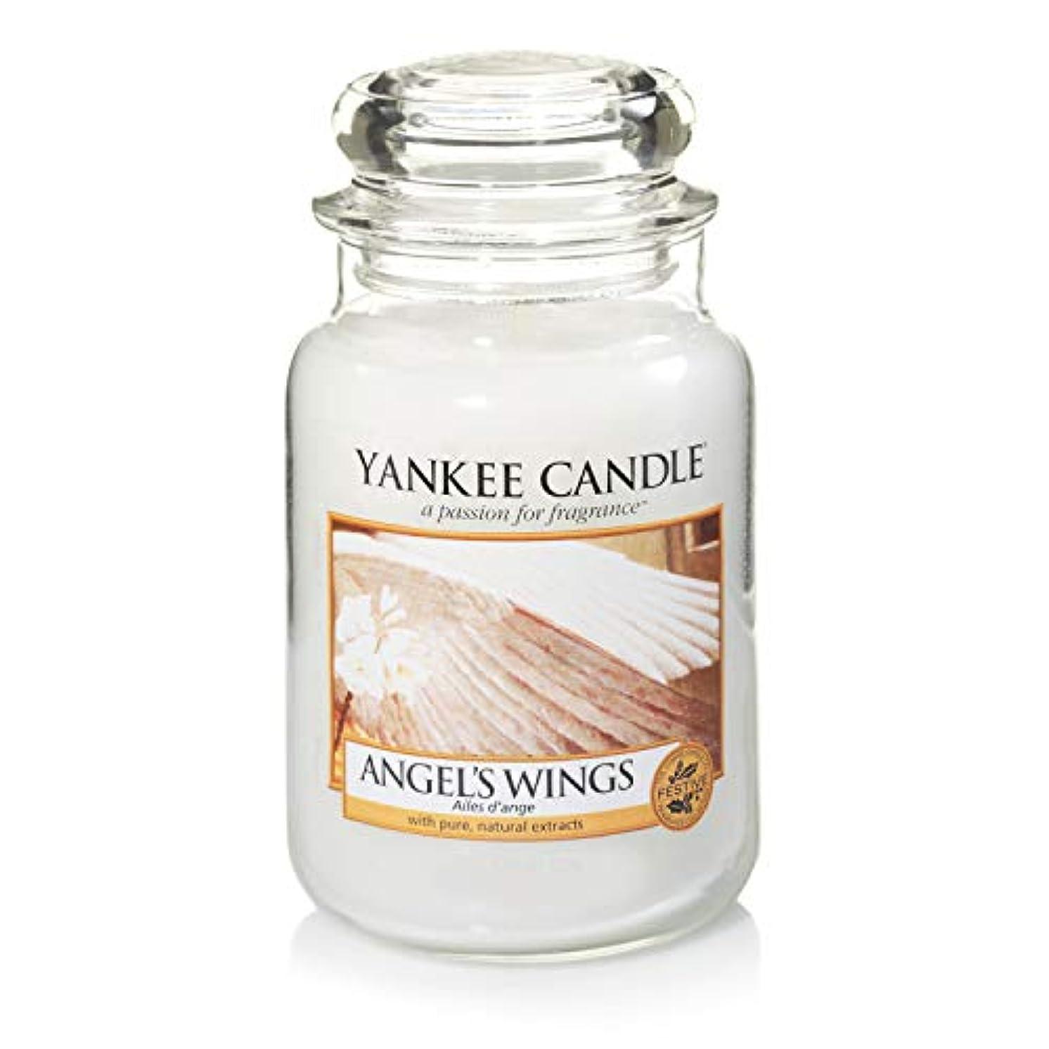 市民メタリックおいしいYankee Candle Large Jar Candle, Angel's Wings by Yankee Candle