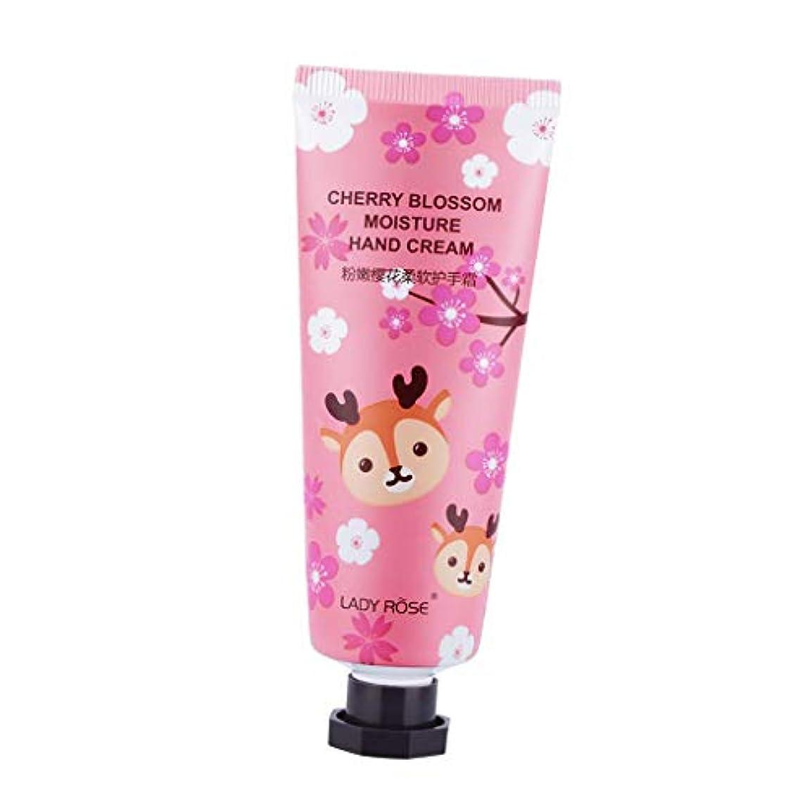 給料ハードリング援助するF Fityle ハンドクリーム 乾燥対策 潤い スキンケア 可愛い 香り 保湿クリーム ローション 3タイプ選べ - 桜