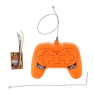 Perfk RCパーツ アクセサリー 送信機受信機セット レシーバ リモコン おもちゃ