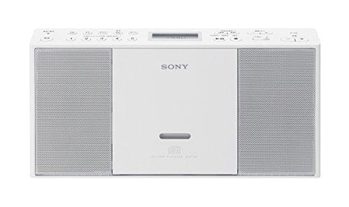 ソニー SONY CDラジオ ZS-E30 : FM/AM/ワイドFM対応 ホワイト ZS-E30 W