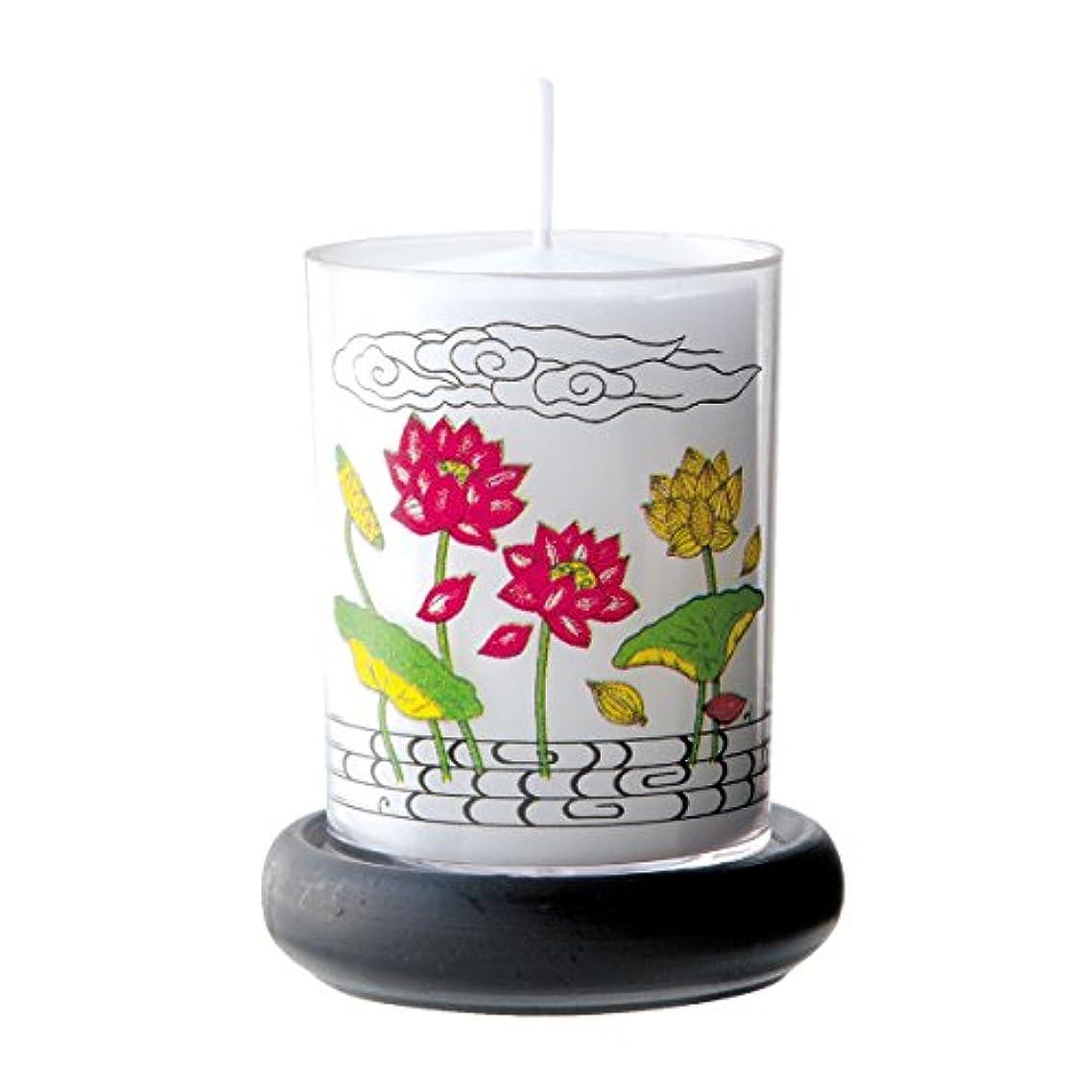 大使館トレイ広告するカメヤマ 24時間ボーティブ台付き 蓮花 1個箱