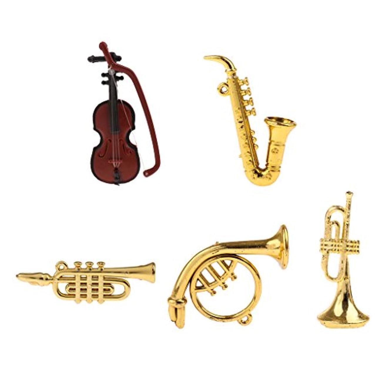 画面熟達いたずらなCUTICATE 5個セット 楽器 モデル アクセサリー 1/12ドルチハウス 小型 プラスチック