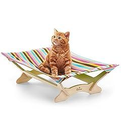 【一生モノの猫ハンモックベッド】 Catoneer キャットハンモック 猫ベッド キャットベッド 猫用品 ねこ ネコ 木製 ペット クッション 【国内正規品/日本語説明書】 (Spring Plum)