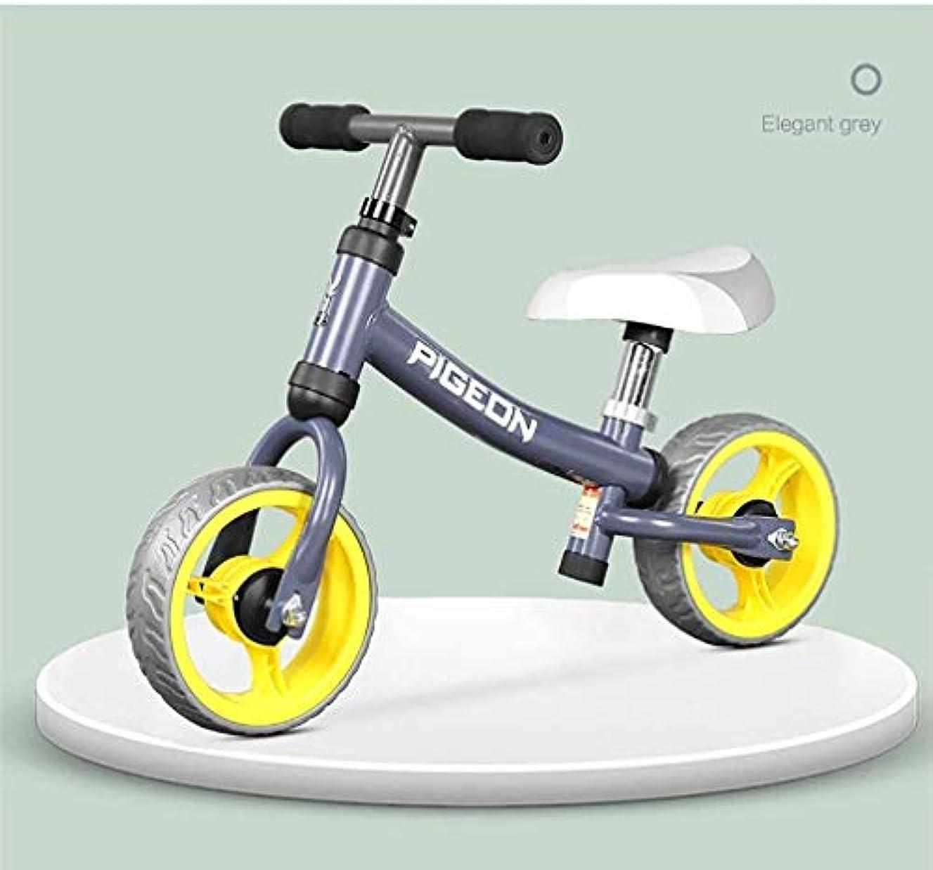 虫ドリルアート男の子と女の子のための子供のバランスバイク、1-4歳ノーペダル学ぶために乗る自転車EVAホイールアジャスタブルシートハンドルカーボンスチールフレームスポーツ自転車