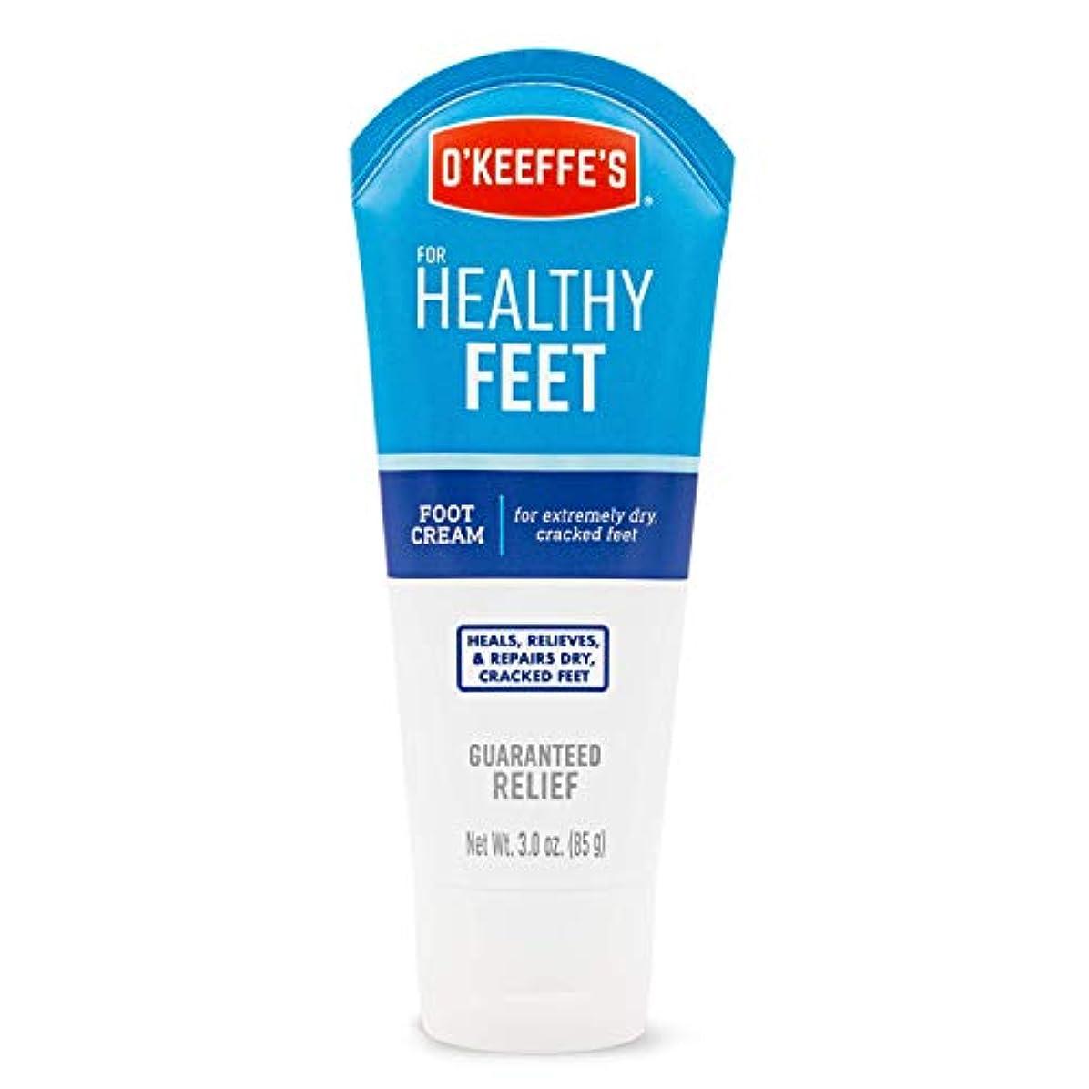 持参文字細部オキーフス ワーキングフィートクリーム チューブ  85g 1点 (並行輸入品) O'Keeffe's Working Feet Tube Cream 3oz