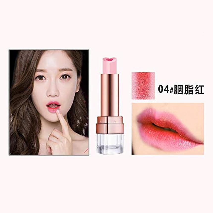 メーカー女の子手がかり口紅 リップスティック 唇のメイクをかむ 人気 3D 立体 二重色 落ない うるおい 6色選択可能 (04)