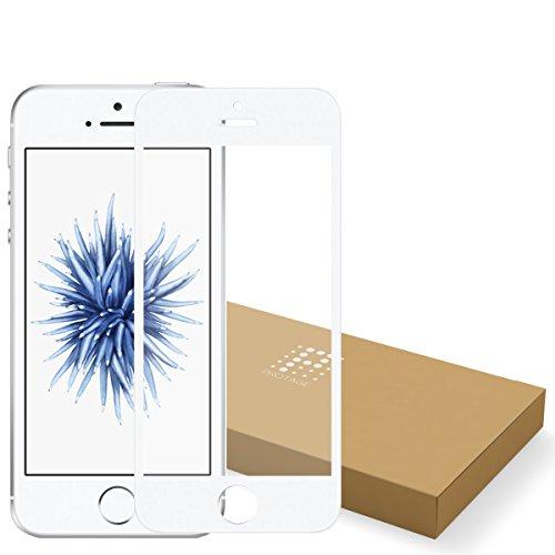 PROTAGE iPhoneSE iPhone5s iPhone5 反射防止 アンチグレア ガラス フィルム 0.4mm 硬度9H 非光沢 ガラスフィルム アイフォン iPhone SE / 5s / 5 / 5c (ホワイト)