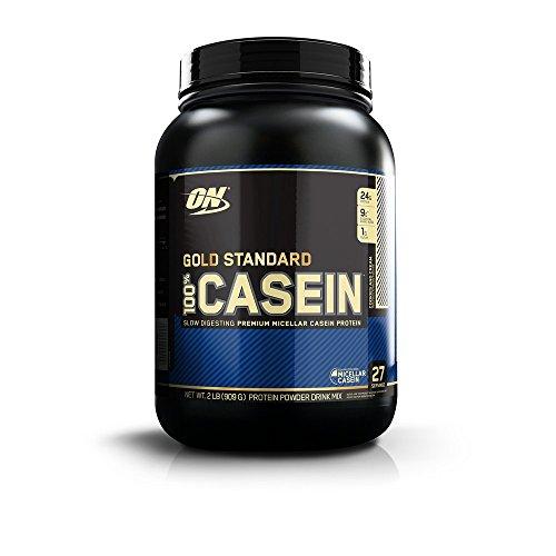 100%ゴールドスタンダードカゼインプロテイン (クッキーとクリーム  2 lbs) 海外直送品
