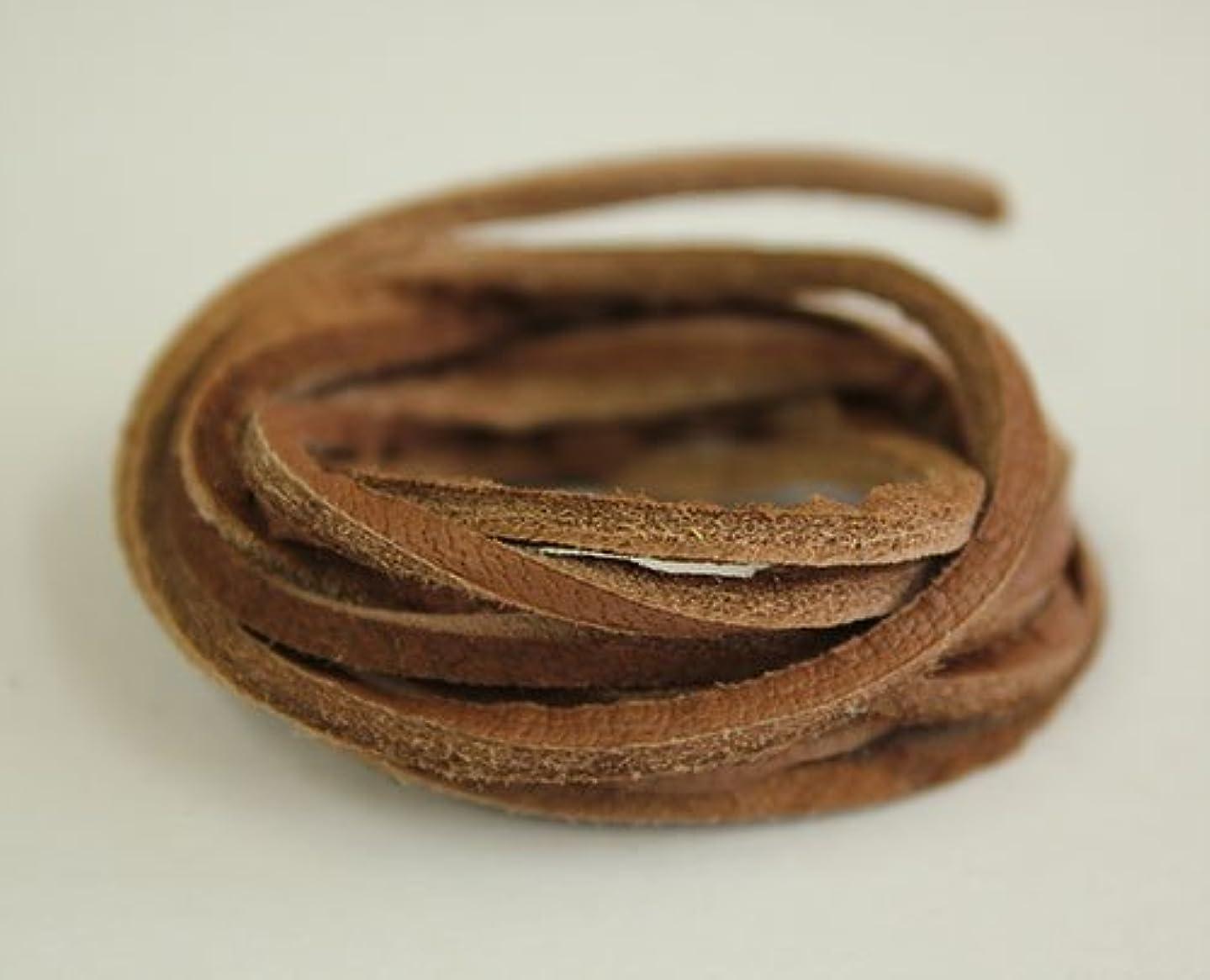 十年突破口トロイの木馬ディアレース(鹿革)巾2mm 長さ約100cm 中茶