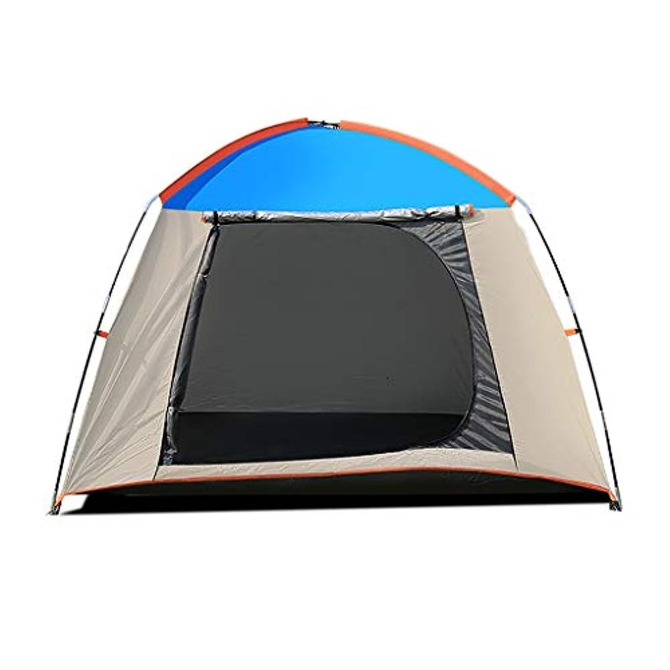 ディベート省略するまもなくテント屋外2人防雨厚いキャンプキャンプダブルポール建設耐候性インスタントトゥーラーユニセックス屋外ドームテント