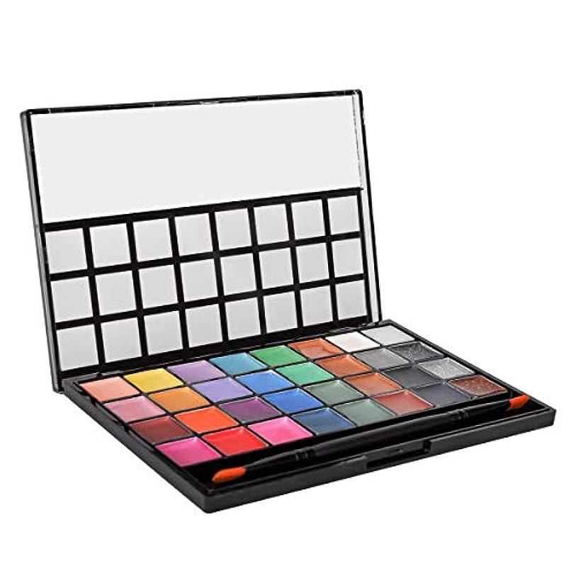 写真を撮る増加する定説Eleclink アイシャドウパレット プロ仕様 32色 アイライン、リップライン化粧 メイクパレット マットとパール コンパクト アイメイク アイシャドウブラシ ミラー付き