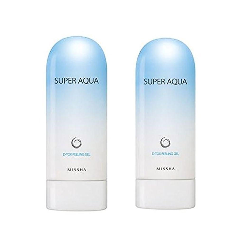我慢する抗議一生ミシャスーパーアクアピーリングジェル100ml x 2本セット、MISSHA Super Aqua Peeling Gel 100ml x 2ea Set [並行輸入品]