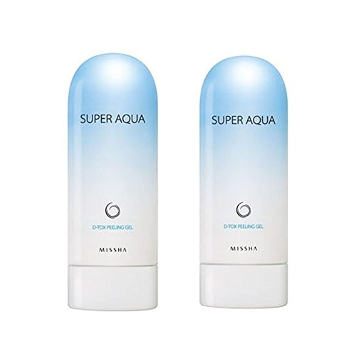 不確実ブラスト病んでいるミシャスーパーアクアピーリングジェル100ml x 2本セット、MISSHA Super Aqua Peeling Gel 100ml x 2ea Set [並行輸入品]