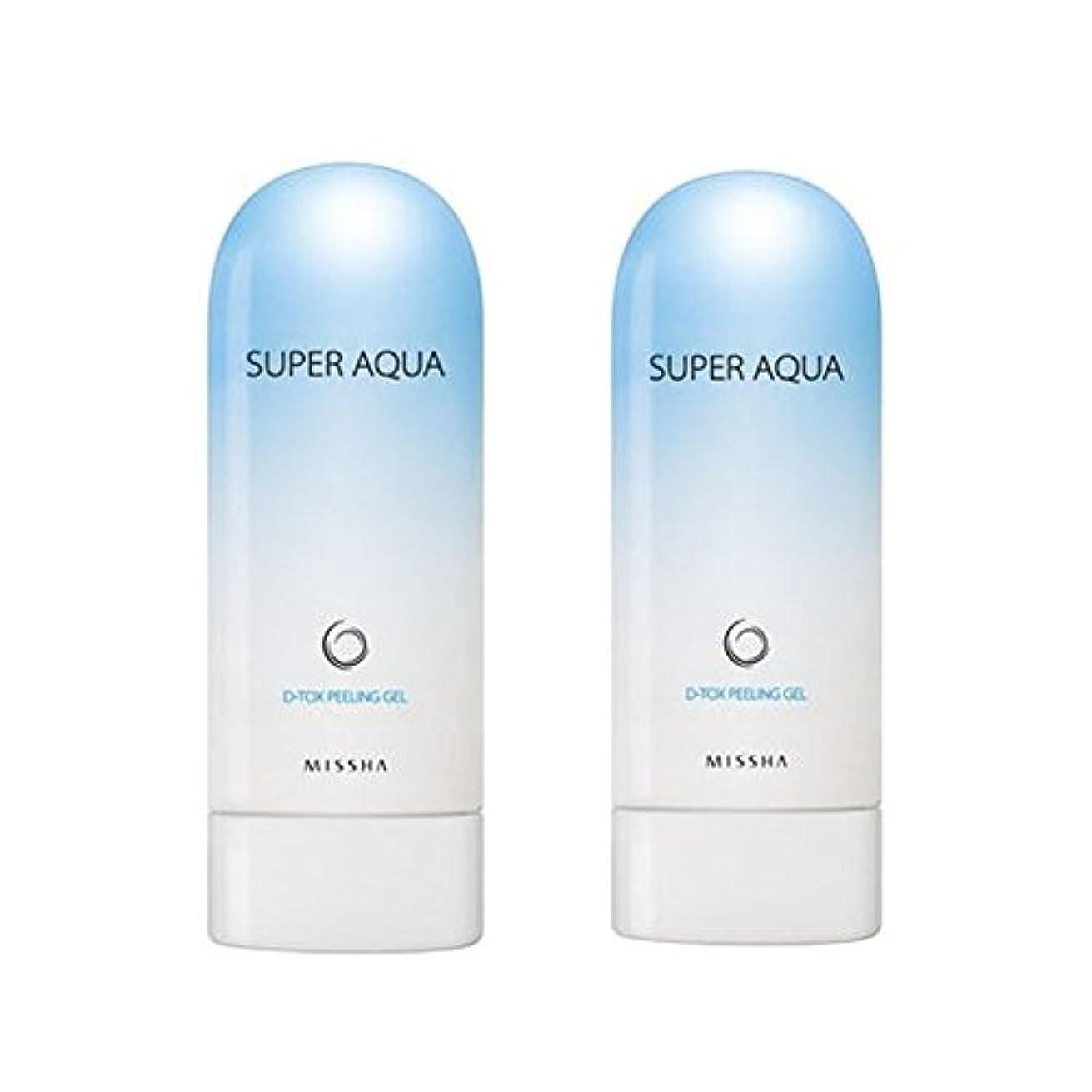旅バッテリークリームミシャスーパーアクアピーリングジェル100ml x 2本セット、MISSHA Super Aqua Peeling Gel 100ml x 2ea Set [並行輸入品]