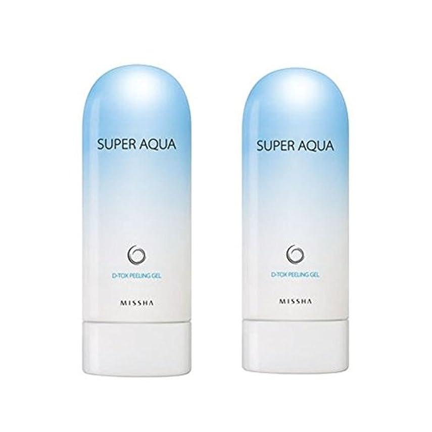 ハンカチハンカチ絶縁するミシャスーパーアクアピーリングジェル100ml x 2本セット、MISSHA Super Aqua Peeling Gel 100ml x 2ea Set [並行輸入品]
