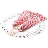 本水晶 紅水晶 商品ポーチ(数珠袋) 付 天然素材 念珠 数珠 男性用 女性用 ローズクォーツ